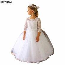 Hot Sale Christmas Super Flower girls dresses for party and wedding Dot print Princess Kids Dress Fashion Children's Clothing