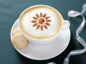 Image 2 - FeiC 16 Designs Latte Art Cappuccino Plastic Plate Template for Barista