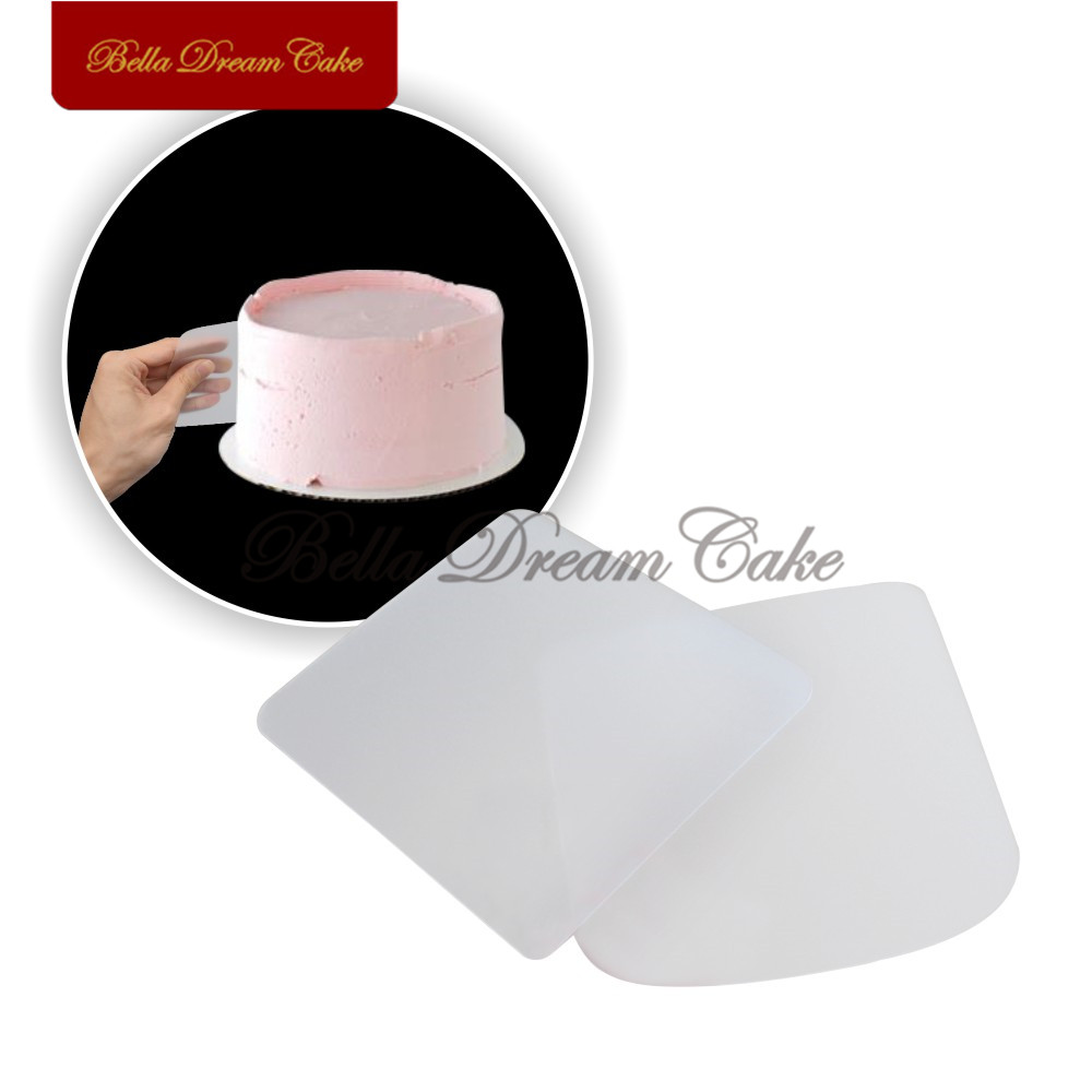 2PCS/Set <font><b>Cake</b></font> <font><b>Smoother</b></font> Plastic Cream Fondant <font><b>Scraper</b></font> Baking Pastry Smooth Spatulas <font><b>Cake</b></font> Decorating Tools Bakeware Tool image