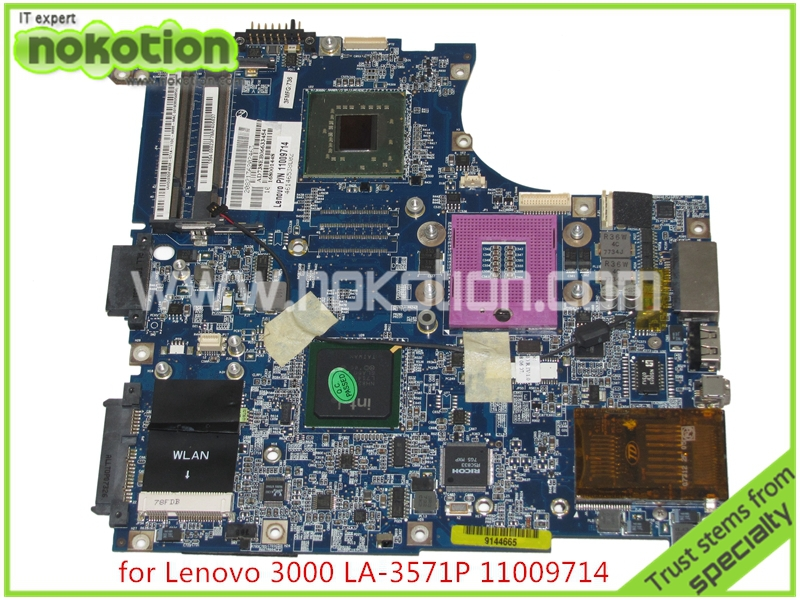 NOKOTION 11009714 LA-3571P Laptop Motherboard for lenovo Y410 F41 gm965 DDR2 without Graphics slot Mainboard for lenovo laptop motherboard g570 piwg2 la 6753p hm65 ddr3 pga989 mainboard