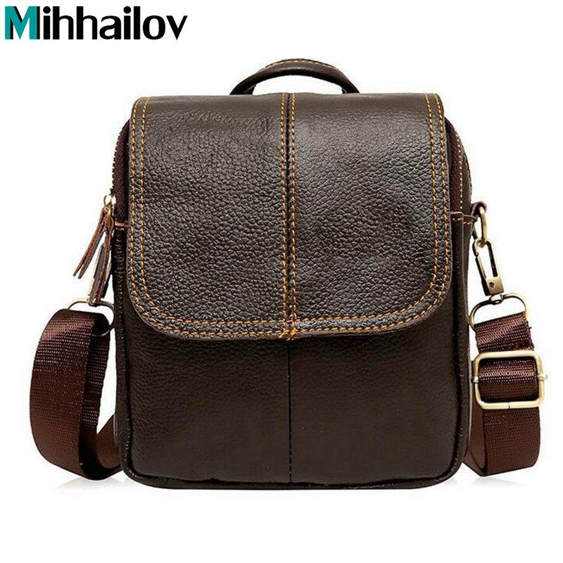 New 2019 New Style Genuine Leather Men Messenger Bags Shoulder Bags BARCA Hannibal Handbags Men Travel Bags KY-185