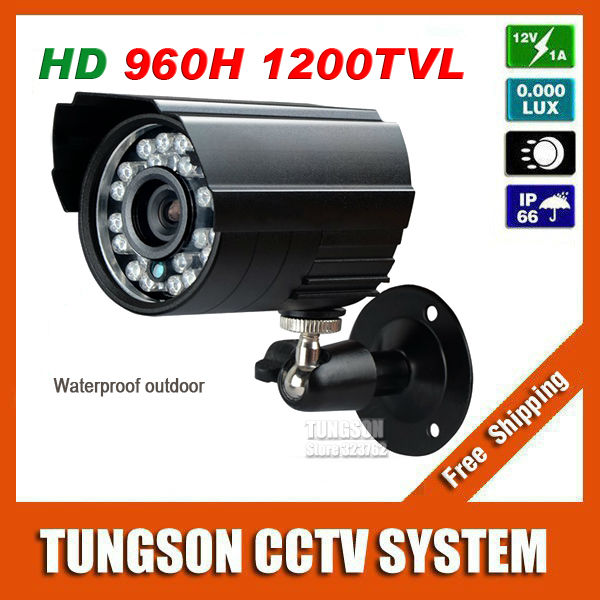 Sony CCD 960H CCD Effio 1200TVL Small Video Surveillance Outdoor Waterproof infrared Security Mini Black Bullet CCTV Camera free shipping infrared video camera ccd sony effio e 700 tvl high definition surveillance camera six lamps array waterproof