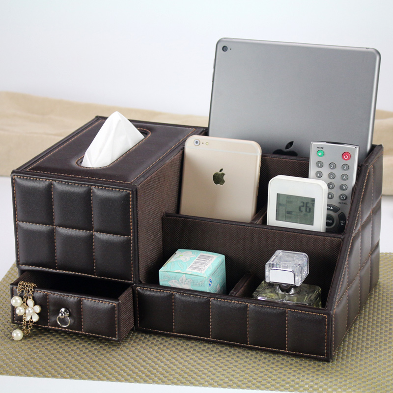 Aliexpress.com : Buy Multipurpose Desk Organizer Leather PU Vintage Office  Desk Storage Box Black Classic Pencil Holder Stationery Collection Boxes  From ...