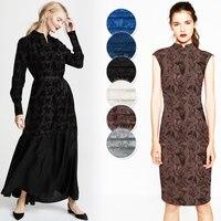 70CM Wide 22MM Floral Jacquard White Blue Black Silk Fabric Good for Summer Dress Jacket JH052