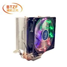 3 heatpipe cooling CPU cooler for LGA 775 1150 1151 1155 1156 2011 CPU 9 cm fan Support Intel AMD цена