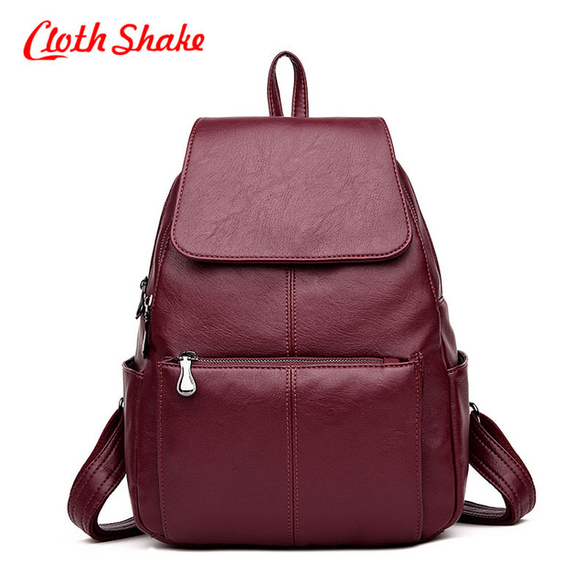 48aa1f8b90ed Women Backpack Top Sale PU Leather Mochila Escolar School Bags For Teenager  Girl Top-Handle Backpacks Best Quality Washed Fabric