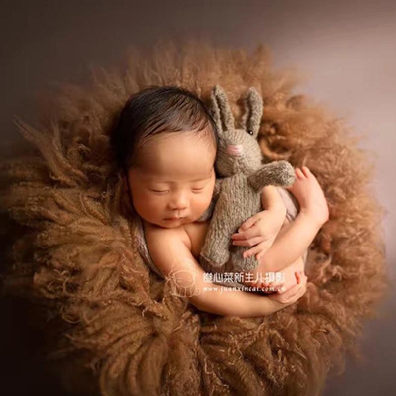 Nouveau-né bébé photographie laine couverture accessoires infantile fotografia accessoires bébé fille garçon Photo Shoot Studio à la main laine couverture