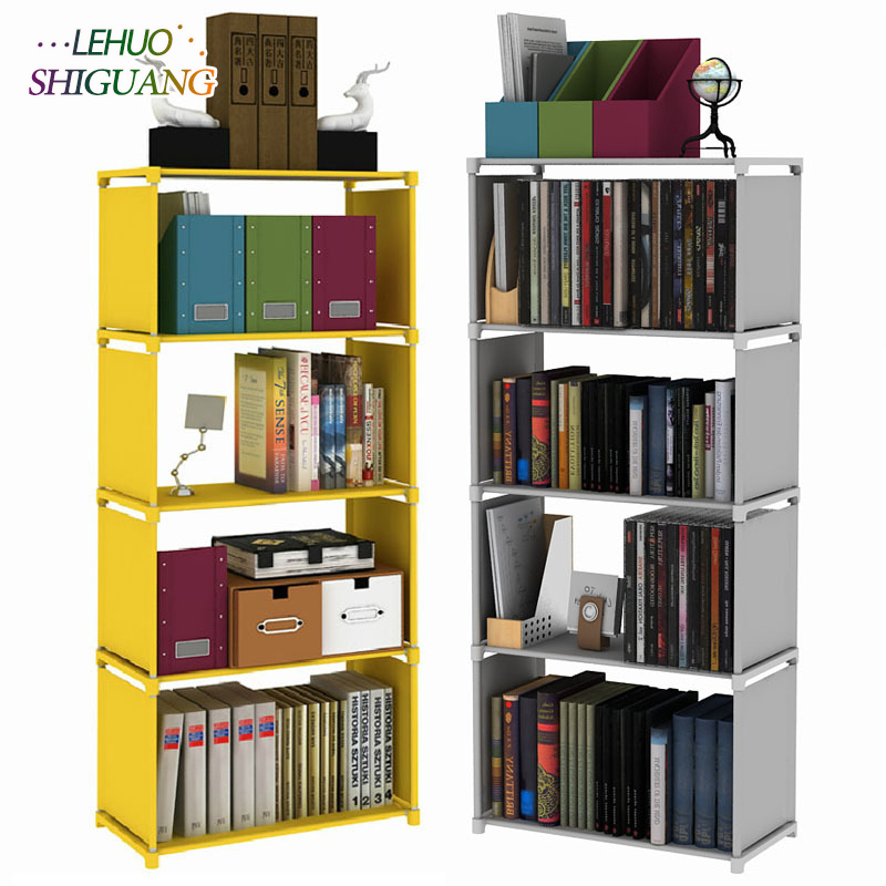 Multilayer Bookshelf non woven bookcase Organizer storage Shelf simple floor rack Home decoracion Living Room Furniture