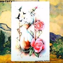 Nu-TATY Elapsing Love Temporary Tattoo Body Art Sleeve Arm Flash Tattoo Stickers 12x20cm Painless Henna Selfie Tatoo Tattoo