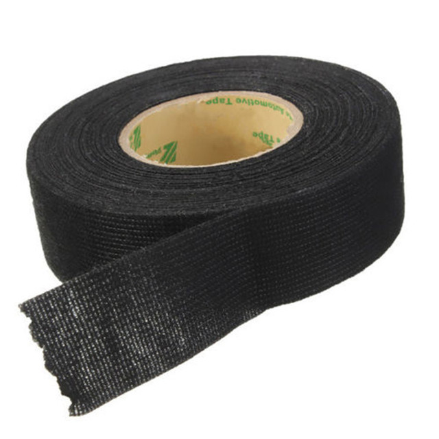 vehemo 1pc 15m wiring harness tape strong adhesive cloth fabric tape rh aliexpress com Hot Rod Wire Looms for Doors Braided Wire Loom