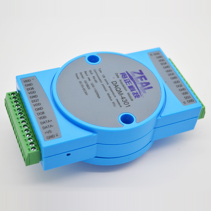 Sensor <font><b>DS18B20</b></font> Input Acquisition Module, Temperature 485 <font><b>Modbus</b></font> DAQM4301 image