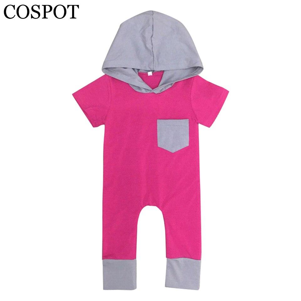 Pelele de verano para niñas recién nacido de algodón y otoño Mono para niña bonito a la moda a rayas con capucha traje 0-4Yrs 2019 nuevo 30