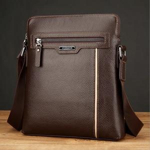 Image 5 - VORMOR Famous Brand Leather Men Bag Casual Business Leather Mens Messenger Bag Fashion Mens Crossbody Bag bolsas male