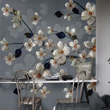 3D wallpaper personality floral background wall professional custom mural photo