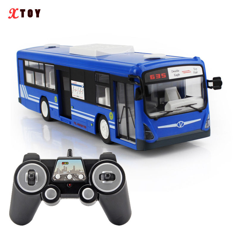 Voiture RC 6 canaux 2.4G télécommande Bus ville Express haute vitesse une clé de démarrage fonction Bus avec son et lumière réalistes