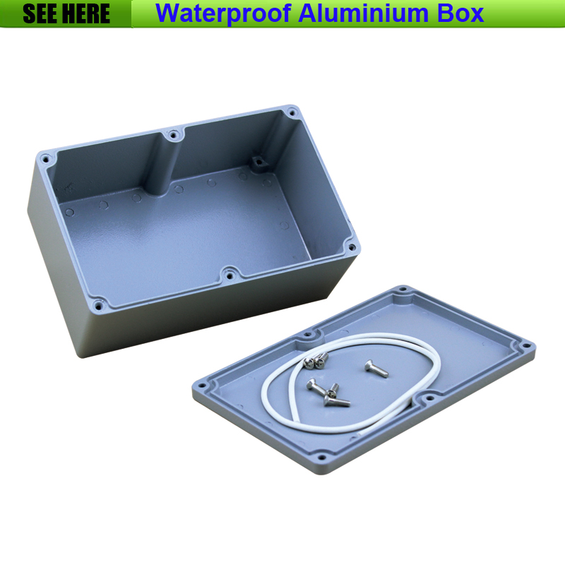 Free Shipping  1piece /lot Top Quality 100% Aluminium Material Waterproof IP67 Standard aluminium electric box 188*120*78mm free shipping 1piece lot top quality 100% aluminium material waterproof ip67 standard aluminium box case 64 58 35mm