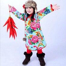 Retail девушки Хлопок Cheongsam детская Одежда Лето Национальный Платье Традиционной Китайской Платье для Детей