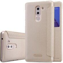 Huawei Honor 6X Случае NILLKIN Блеск Серии Откидная Крышка ИСКУССТВЕННАЯ Кожа чехол Для Huawei Honor 6X/Mate 9 Lite 5.5 дюймов