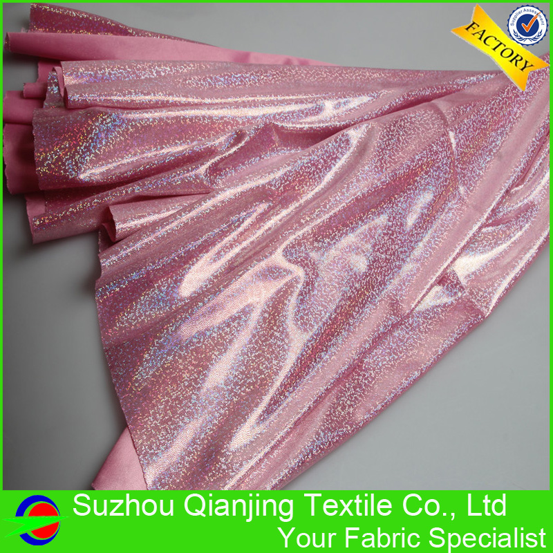 Direct Selling Fashionable Shiny Bronzing Stamping Knit Fabric