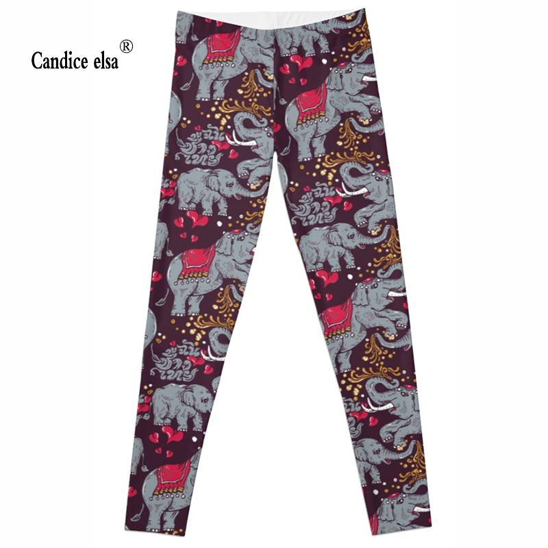 wholesales New Fashion Women Clothes Hot Digital Print Pants The Riddler Leggings Skinny leggings of new Elephant 2016