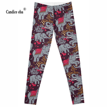 wholesales New Fashion Women Clothes Hot Digital Print Pants The Riddler Leggings Skinny leggings of new Elephant 2016