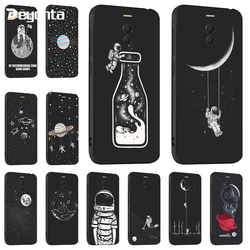 For <font><b>Meizu</b></font> M6 Note M6S <font><b>M6T</b></font> 16X Meilan 6 <font><b>cases</b></font> Fashion black painted Anti-knock Cover For <font><b>Meizu</b></font> 16 Pro 7 Plus Note 8 9 Coque Bag image