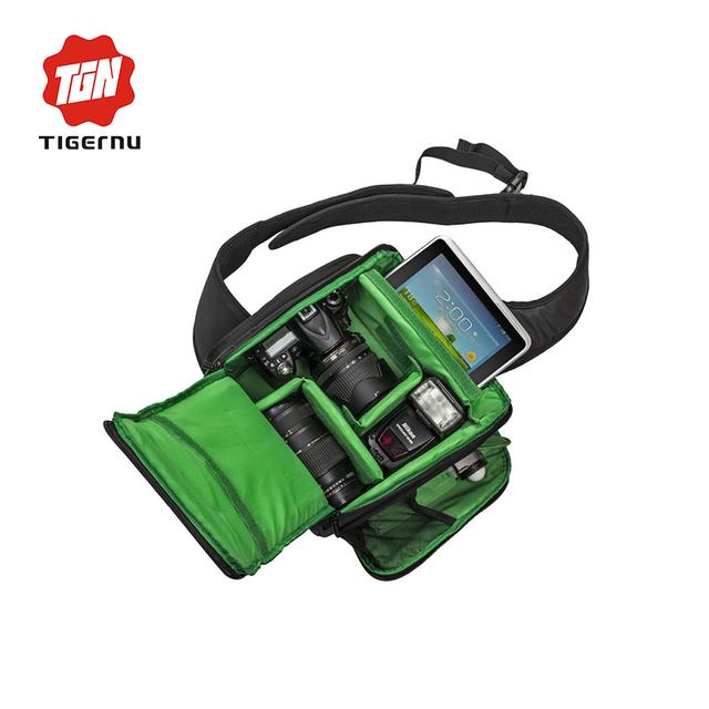 Tigernu marca foto dslr bolsa de la cámara bolsa de hombro bolsa de la cámara a prueba de golpes a prueba de agua caja de lente de bolsa para canon nikon sony