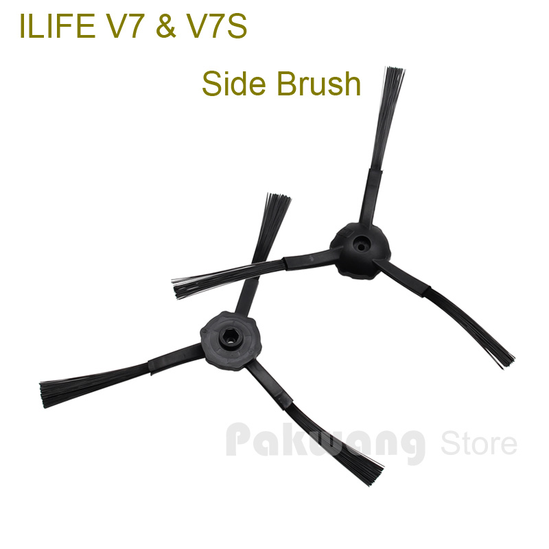Original ILIFE V7 V7S Robot Vacuum Cleaner Parts, Side brush 2 pcs from the factory цена