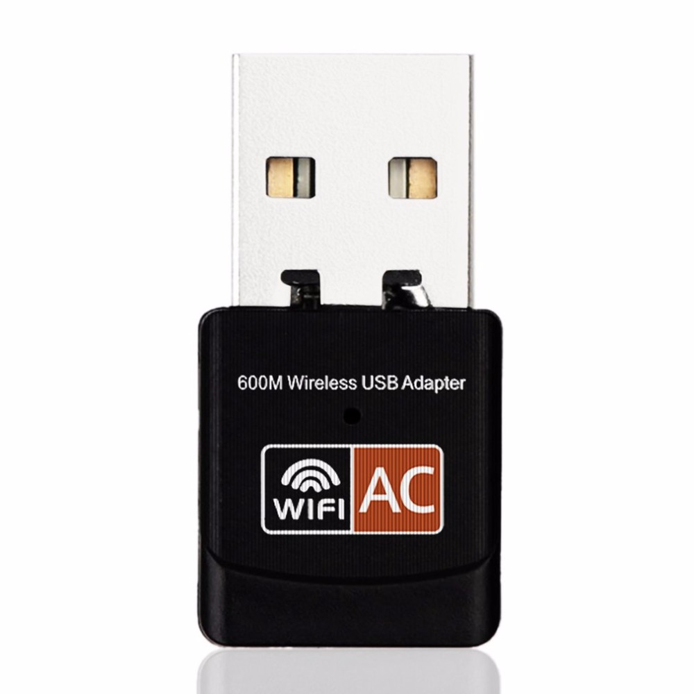 2.4GHz 5GHz Wireless Wifi Adapter Computer Network Card AC600Mbps USB WiFi Aerial Dual Band Mini PC WiFi Adapter image