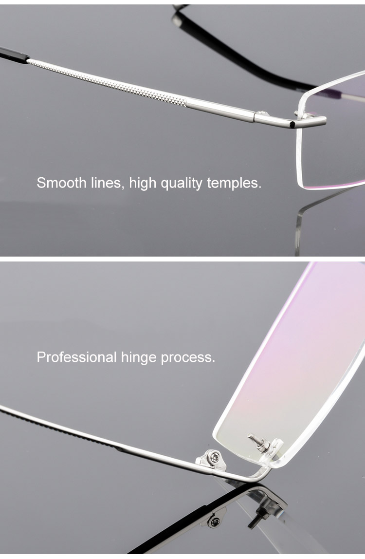 87840be4681b Detail Feedback Questions about QianJing Alloy Rimless Optical ...