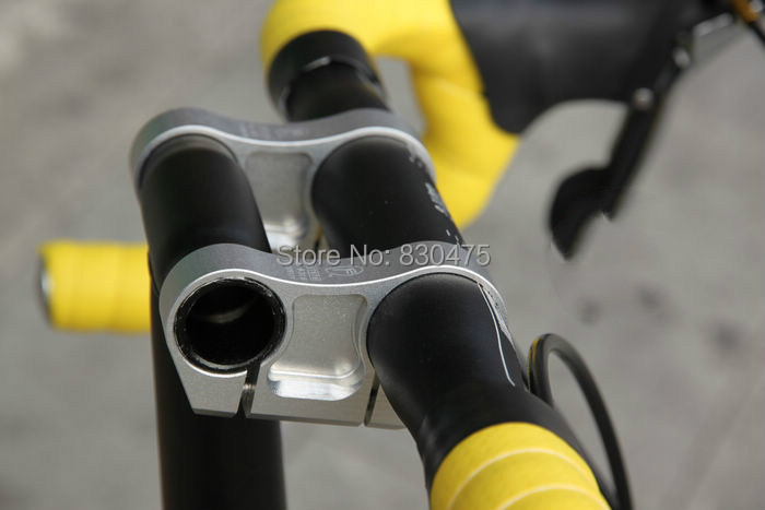 Folding bike CNC lightweight 7075 T6 aluminum double stem BMX T-head tube adapter 25.4mm 31.8mm bmx folding bike bicycle aluminum cnc handlebar stem 22 2 25 4mm folding cycling stems