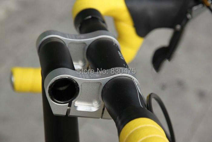 Vélo pliant CNC léger 7075 T6 aluminium double tige BMX t-head tube adaptateur 25.4mm 31.8mm