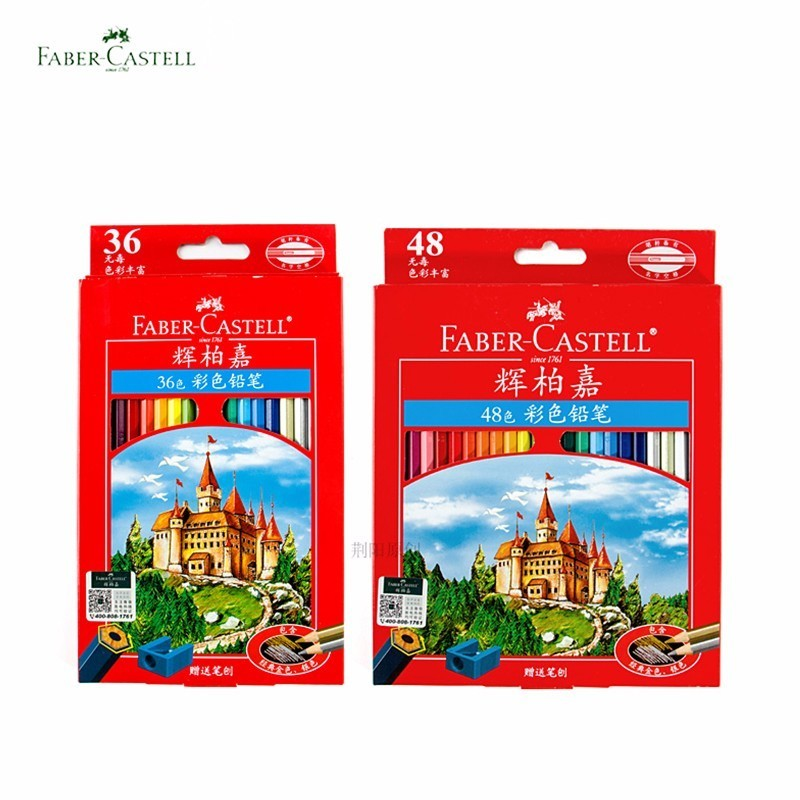 цена на Faber Castell Castle 72 Colored Pencils Watercolor Professional pencils Painting Oil Color Pencil Drawing For School Sketch
