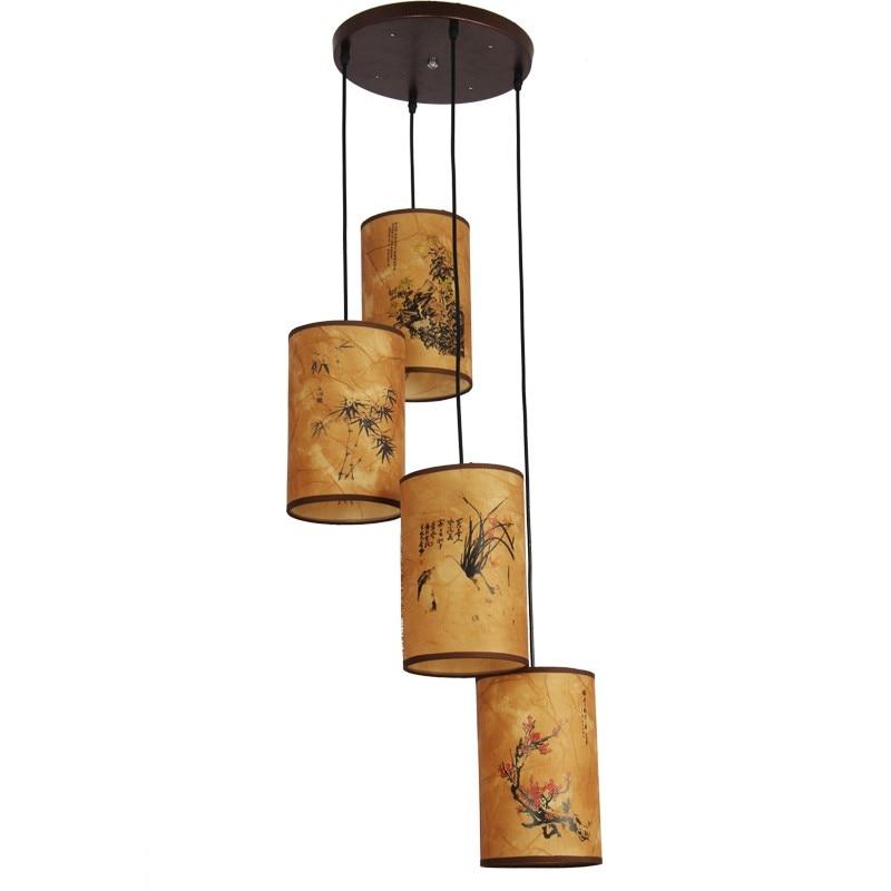 villa de madera de estilo restaurante chino de la lmpara de larga antiguos luces colgantes