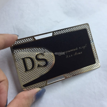 2019 decoration matt black metal card business