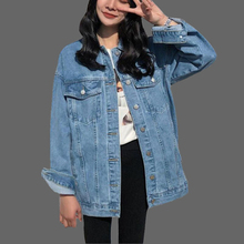 2019 Women Basic Coat Denim Jacket Women Winter Denim Jacket