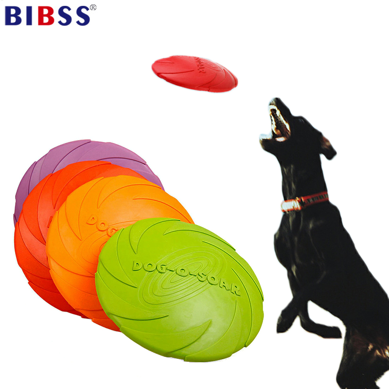 Rubber Flying Discs Dog Toys Training Tooth Resistant Fetch Interactive Toys For Dogs 4 Color  17.5cm 15cm Dropshipping