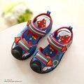 2016 Novos de Verão para Crianças Sandálias Meninos Sapatos Chinelos de Praia Superman Meninas Bebê Super Maré Sapatos Crianças Sapato Verão
