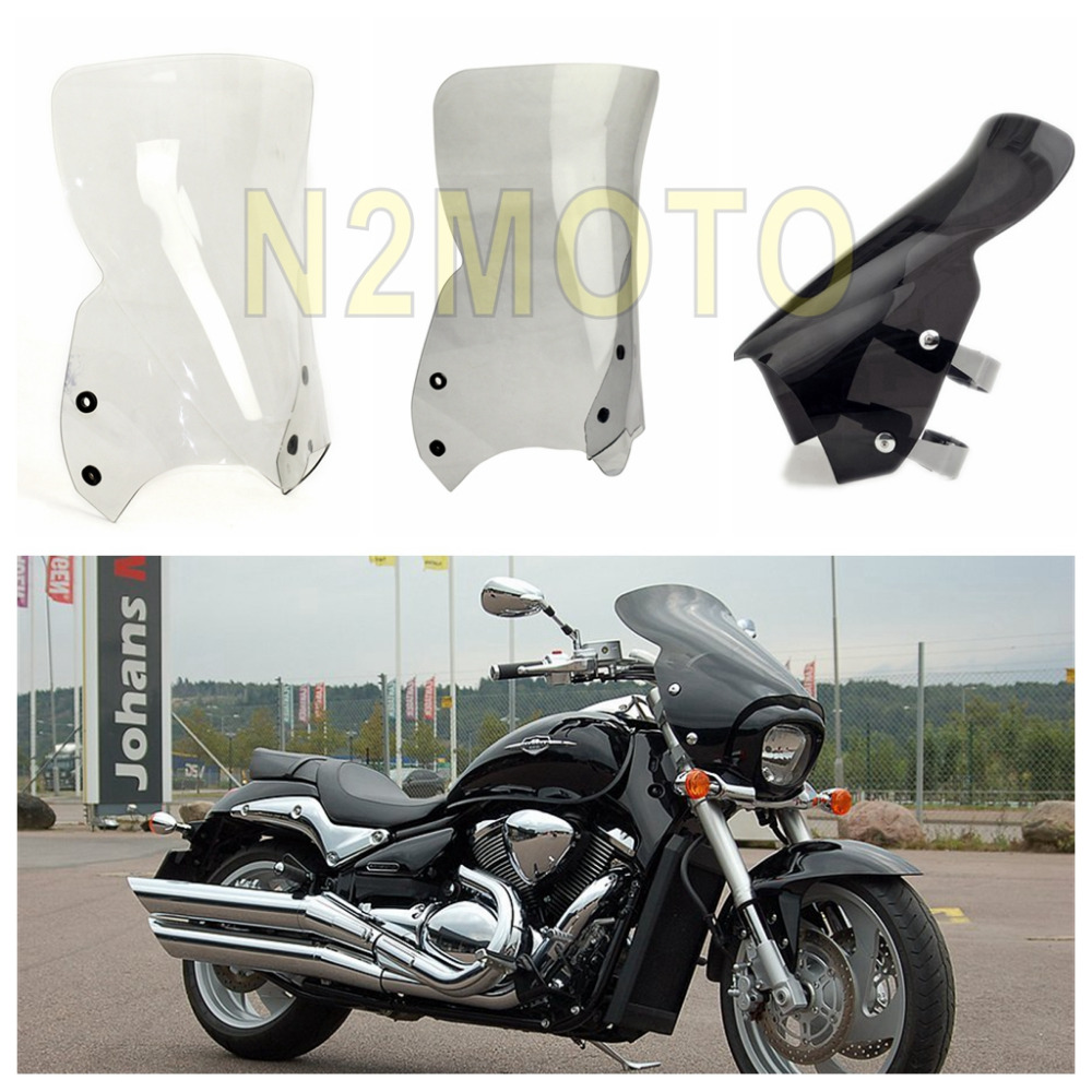 3 Colors Motorcycle Windshield for Suzuki Boulevard M109R M50 M90 2006 2016 Polycarbonate Clear Smoke Black