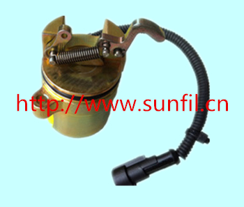 1011 engine Shutdown Device Solenoid Valve 0428 7584,24V 3924450 2001es 12 fuel shutdown solenoid valve for cummins hitachi