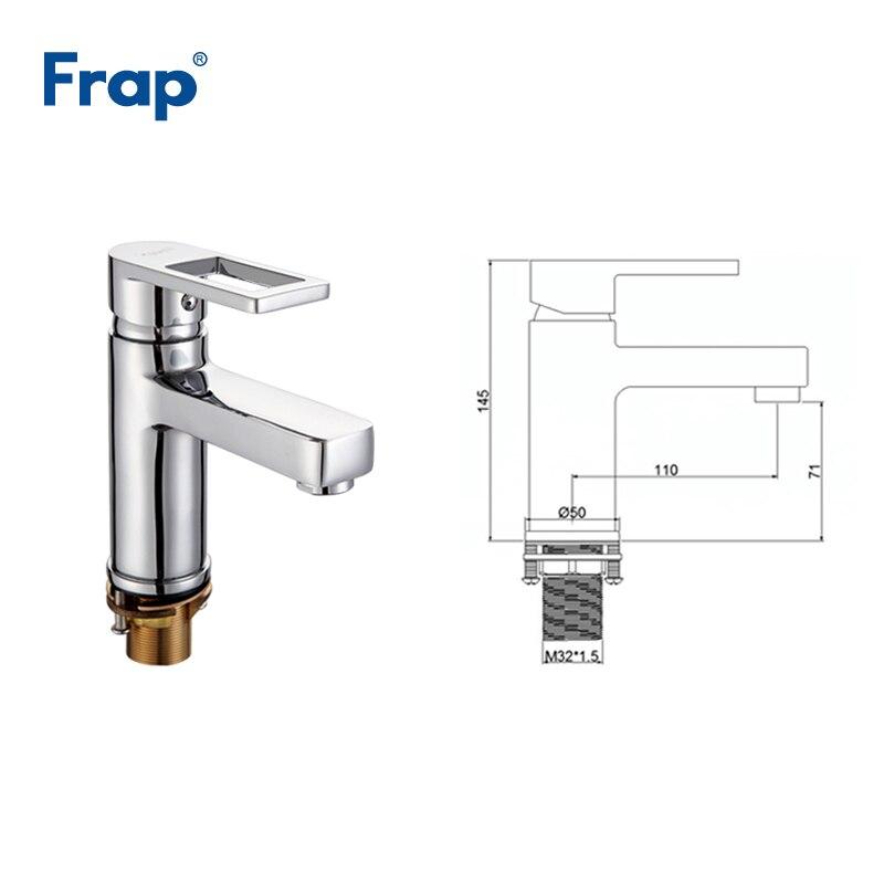 Frap laiton répandu salle de bains bassin robinet cascade bain évier mélangeur robinet lavabo robinet eau chaude et froide robinets grifo F1072 - 4