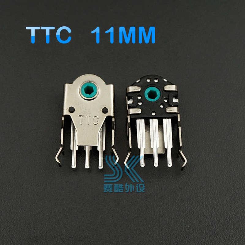 Codificador de ratón TTC Original altamente preciso 8mm 9mm 10mm 11mm verde rojo amarillo núcleo 2 piezas resolver el problema de la rueda de rodillo