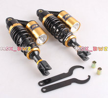 Brand New Black & Gold 11″280mm One Pair  New Air Shock Absorbers Clevis Scooter Moped Quad ATV Gokart