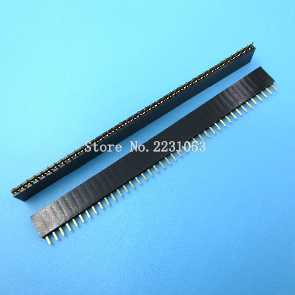 10pcs//lot 40P 1x40 Single Row Male 2.54 Breakable Pin Header Connector Strip