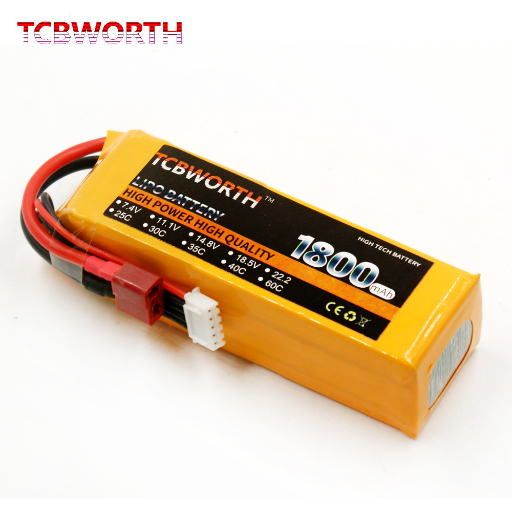 TCBWORTH 4S 14.8V 1800mAh 25C-50C RC LiPo battery For RC Airplane Quadrotor Car High Rate Cell RC Li-ion battery mos rc airplane lipo battery 3s 11 1v 5200mah 40c for quadrotor rc boat rc car