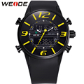WEIDE Sports Watches Men Luxury Brand Military Army Outdoor Waterproof Analog Dual Time Display Quartz Digital PU Wristwatches