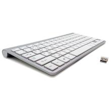 Ultra-Slim French Keyboard High Quality Wireless Keyboard Mute Keycap 2.4G Clavier for Apple Mac Windows XP 7 8 10 Vista TV Box