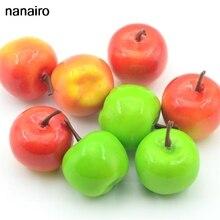 10 искусственных имитации пены маленькие ягоды семья зеленых яблок и красных яблок Свадебные кухни Украшенные овощами