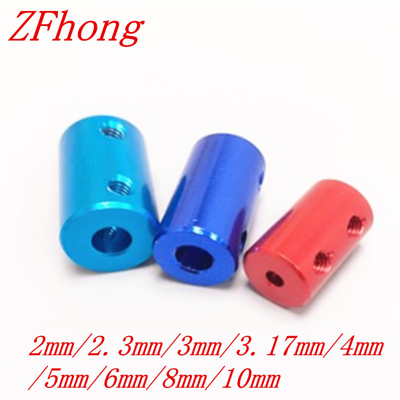 1pc Aluminum Coupling Bore 2MM 3MM 4mm 5mm 6mm 8mm 10mm 3D Printers Parts Blue Shaft Coupler Screw For Stepper Motor Accessories