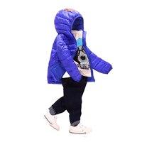 Çocuk Erkek kız Giyim Setleri Kış 2-7year Hoody Aşağı Ceket Su Geçirmez Kar Ilık Çocuklar Elbise Takım Elbise 9 Renk Aşağı Ceket